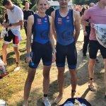 Nadine und Marvin beim Frankfurt City Triathlon