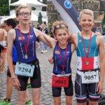 Fünf BSV Tri Kids, drei Einzelstarter und das Seniorenliga-Team beim Triathlon in Mönchengladbach