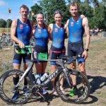 Deutsch-belgisches Triathlon-Quartett in Sassenberg