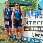 Frauke und Hanna-Lena beim VULKAN-Cross-Triathlon Schalkenmehren